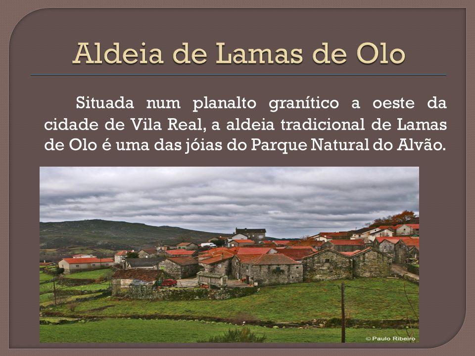 Situada num planalto granítico a oeste da cidade de Vila Real, a aldeia tradicional de Lamas de Olo é uma das jóias do Parque Natural do Alvão.