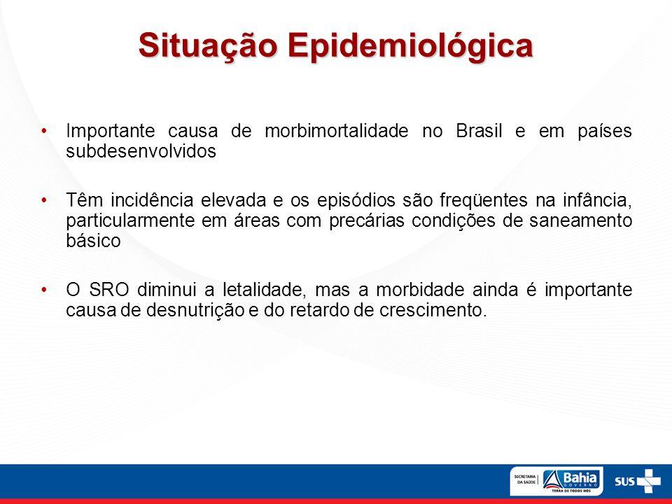 Situação Epidemiológica Importante causa de morbimortalidade no Brasil e em países subdesenvolvidos Têm incidência elevada e os episódios são freqüent