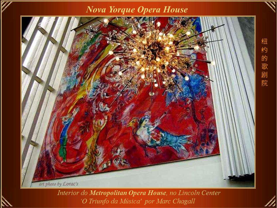Metropolitan Opera, fundado em abril de 1880, é a maior organização de música clássica dos EUA - a cada ano apresenta 240 óperas.