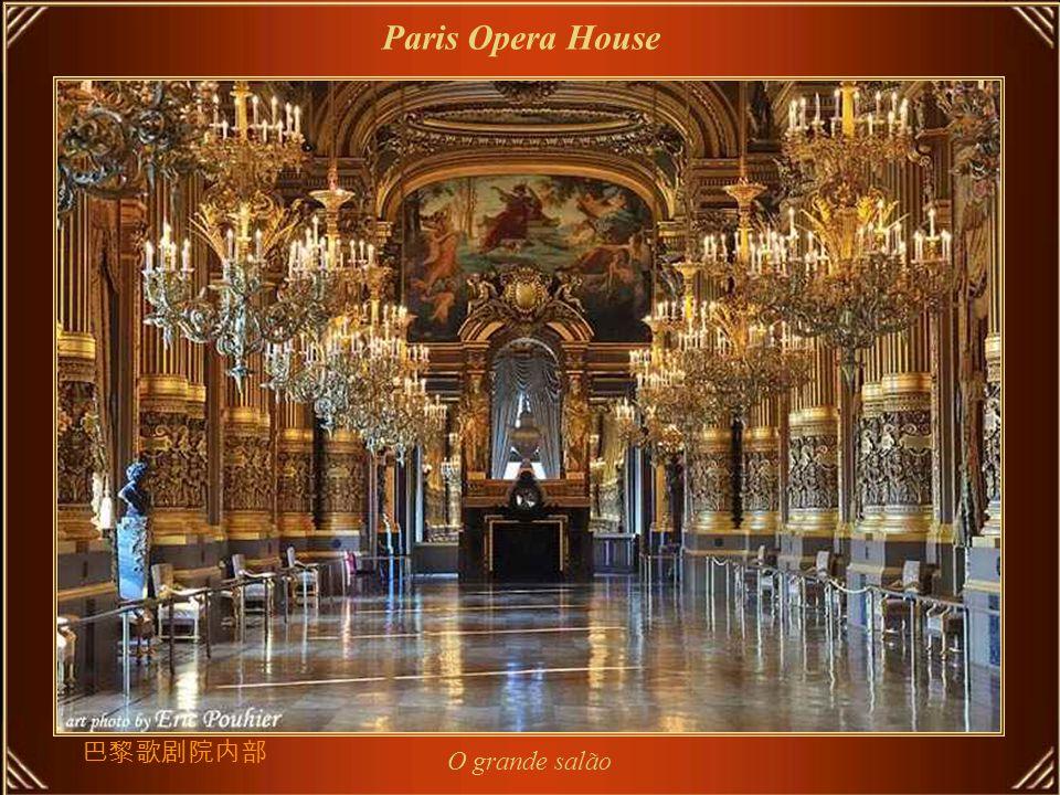 Paris Opera House A Opéra de Paris ou Opéra Garnier, casa com 2.200 lugares e um marco de Paris projetado por Charles Garnier em estilo neo-barroco, é considerada como uma das obras-primas de seu tempo.