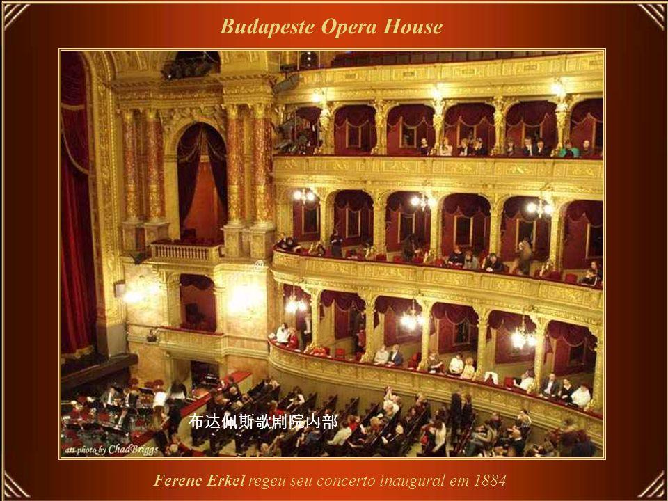 Budapeste Opera House Hungarian Opera House - projetado e construído em estilo renascentista
