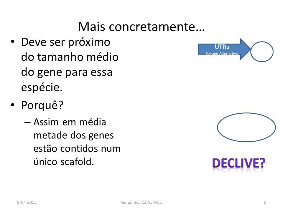 Processo genético de anotação de genomas bacterianos Richardson E J, and Watson M Brief Bioinform 2012;bib.bbs007 © The Author(s) 2012.