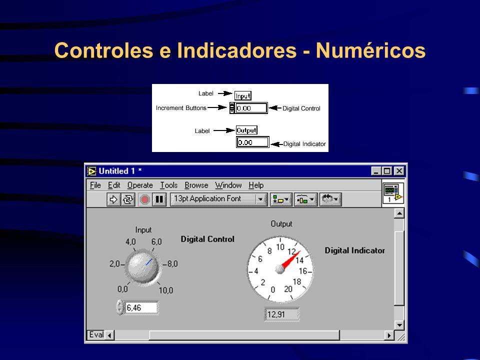 Controles e Indicadores - Numéricos