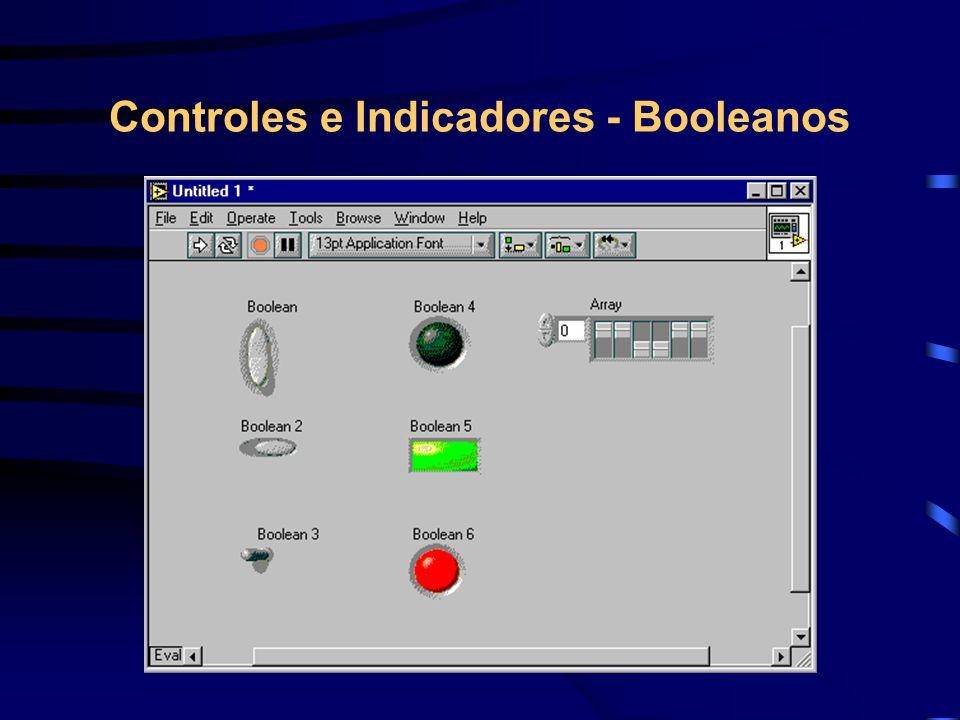 Controles e Indicadores - Booleanos