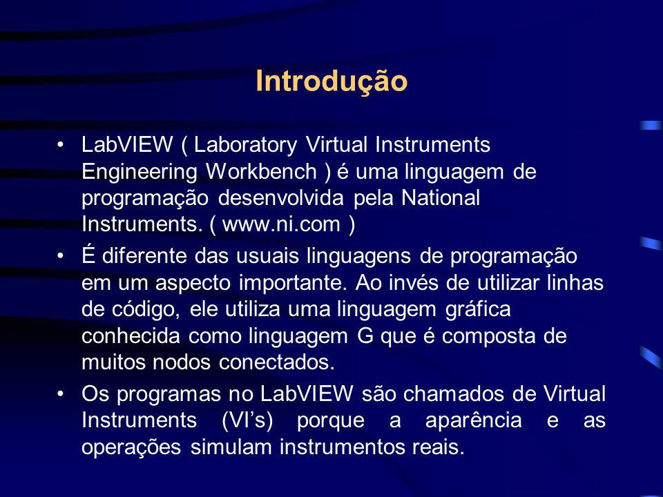 Introdução LabVIEW ( Laboratory Virtual Instruments Engineering Workbench ) é uma linguagem de programação desenvolvida pela National Instruments. ( w