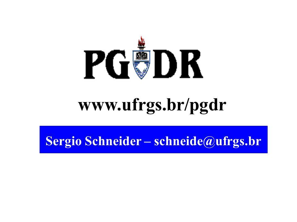www.ufrgs.br/pgdr Sergio Schneider – schneide@ufrgs.br