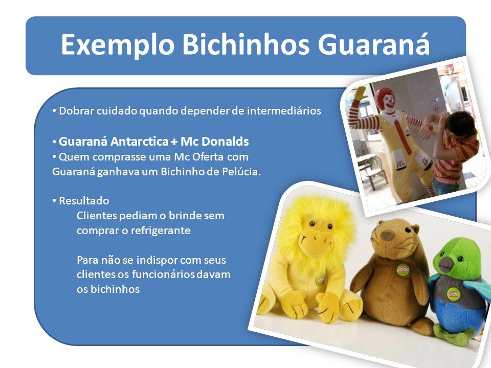 Exemplo Bichinhos Guaraná Dobrar cuidado quando depender de intermediários Guaraná Antarctica + Mc Donalds Quem comprasse uma Mc Oferta com Guaraná ga