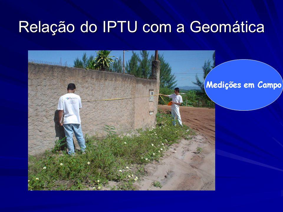 Relação do IPTU com a Geomática Medições em Campo