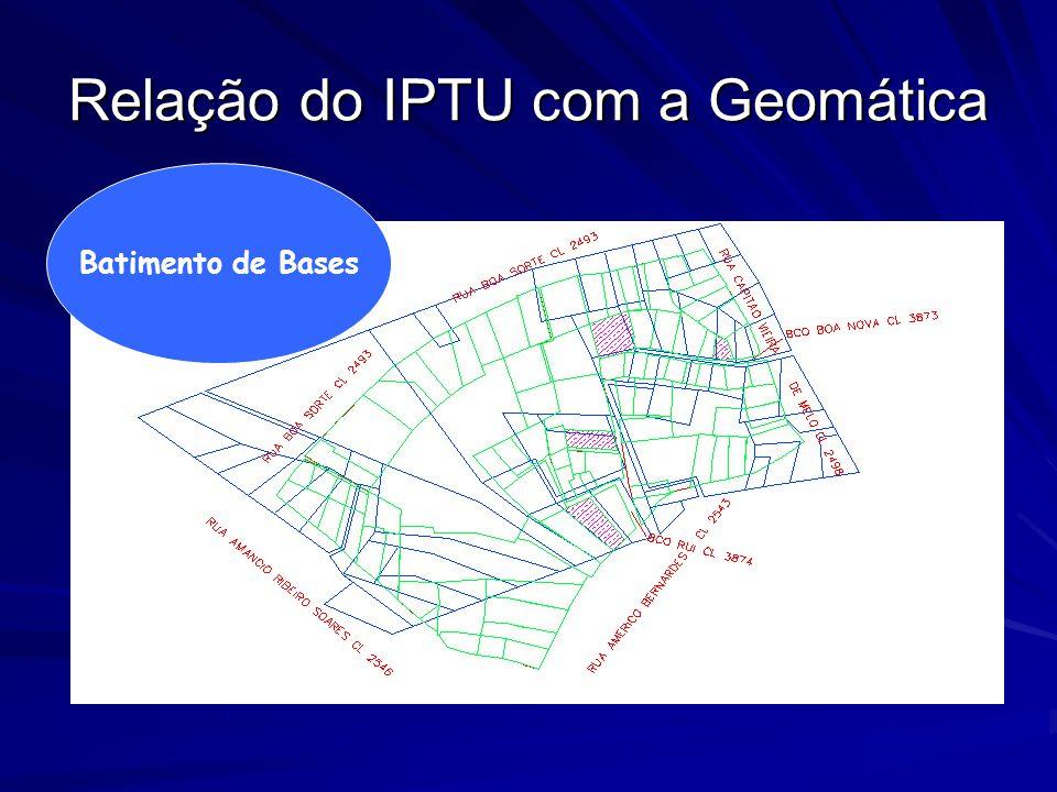 Relação do IPTU com a Geomática Batimento de Bases