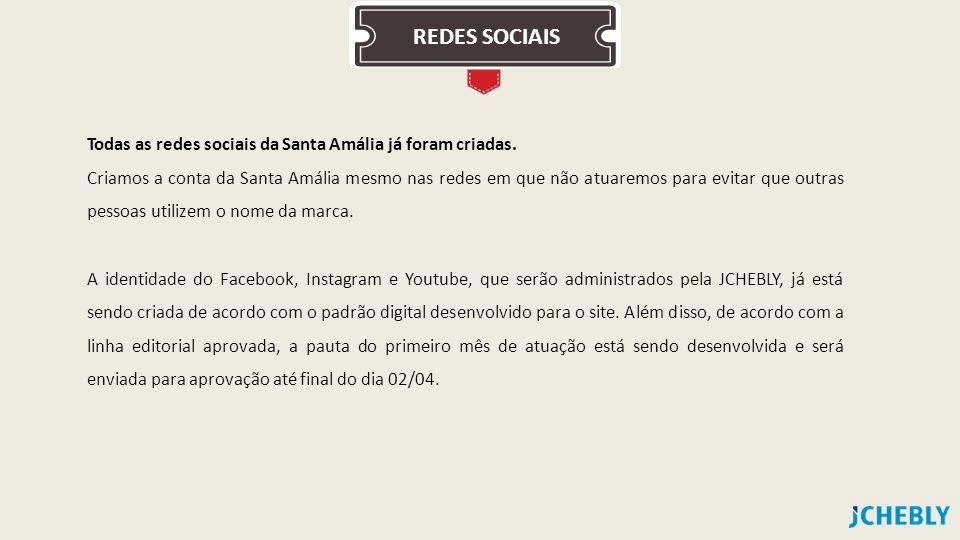 REDES SOCIAIS Todas as redes sociais da Santa Amália já foram criadas.