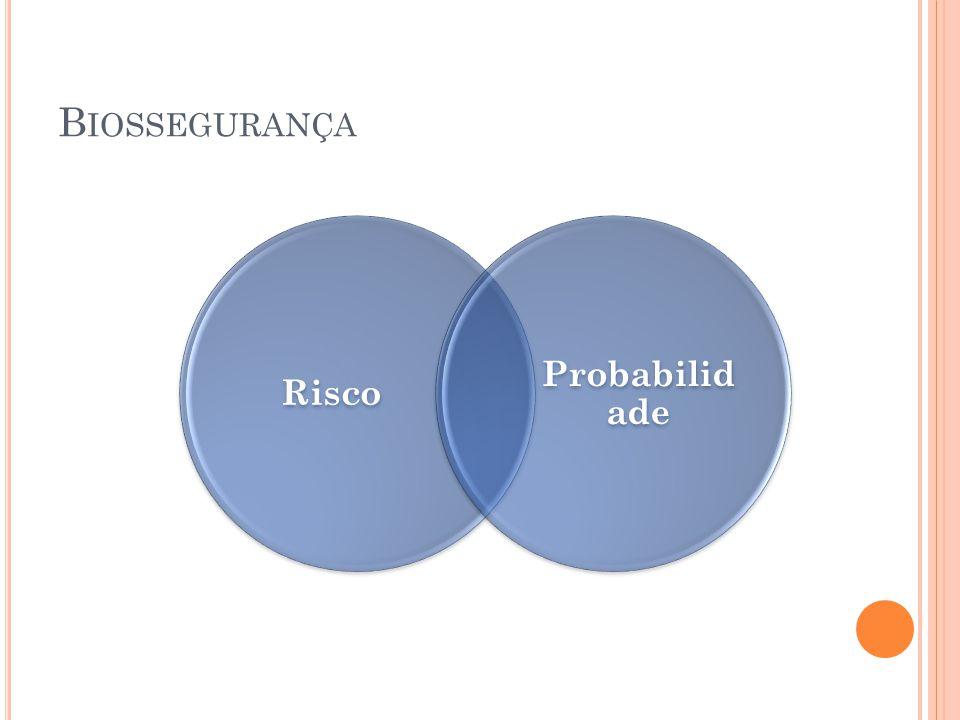 B IOSSEGURANÇA Risco Probabilid ade