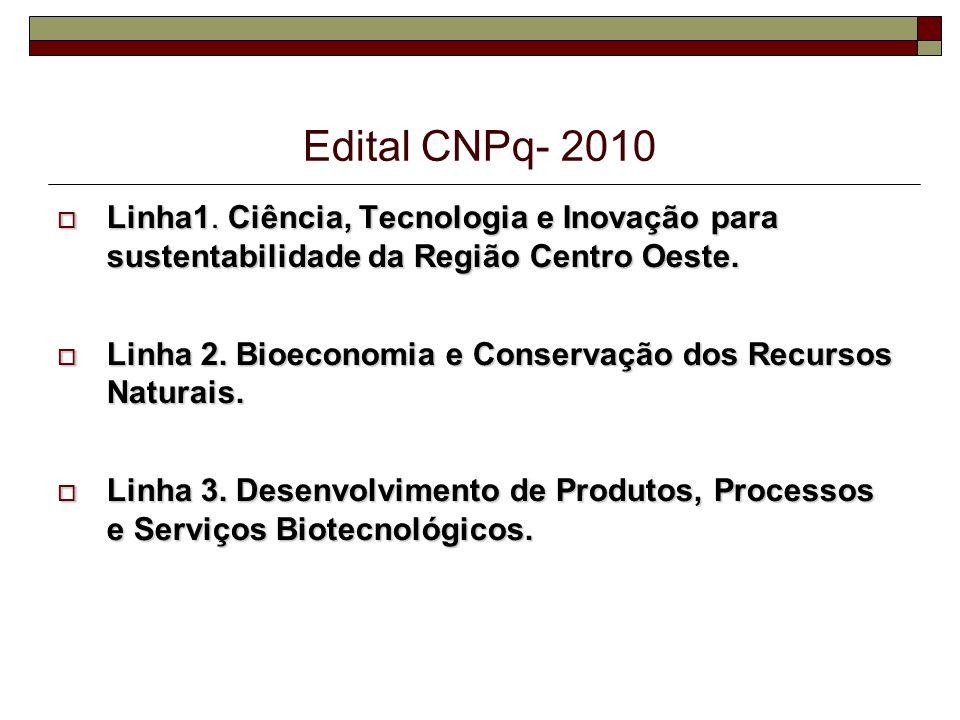 Edital CNPq- 2010 Linha1.