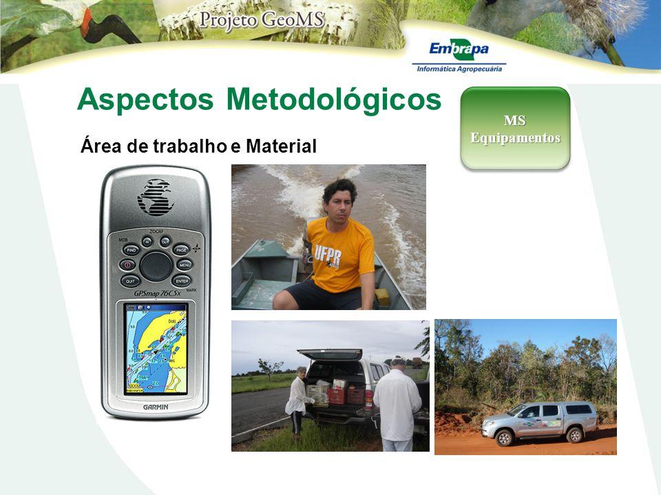 Aspectos Metodológicos Área de trabalho e Material MSEquipamentosMSEquipamentos