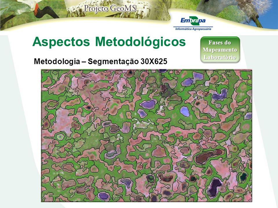 Aspectos Metodológicos Metodologia – Segmentação 30X625 Fases do Mapeamento Laboratório