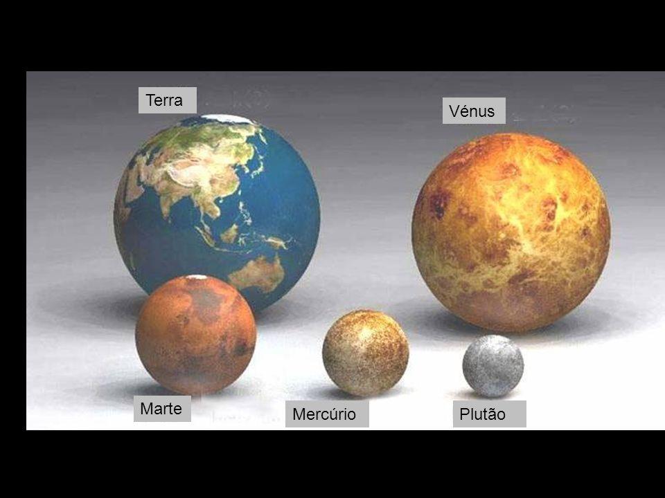 Terra Plutão Marte Mercúrio Vénus