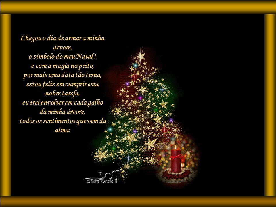 Chegou o dia de armar a minha árvore, o símbolo do meu Natal .