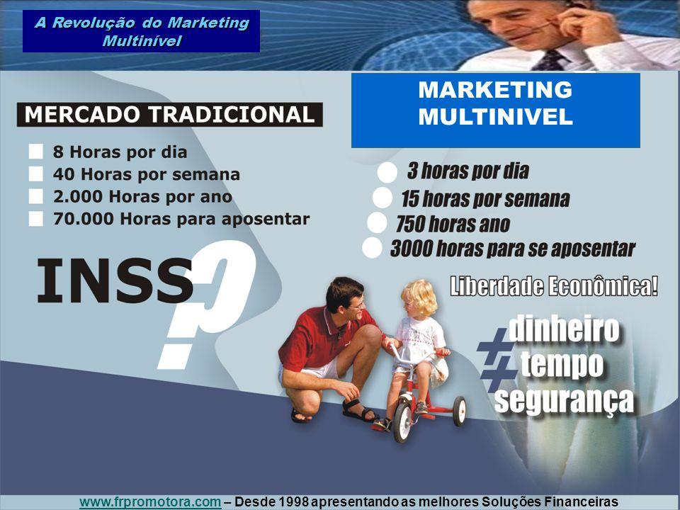 MARKETING MULTINIVEL A Revolução do Marketing Multinível www.frpromotora.comwww.frpromotora.com – Desde 1998 apresentando as melhores Soluções Finance
