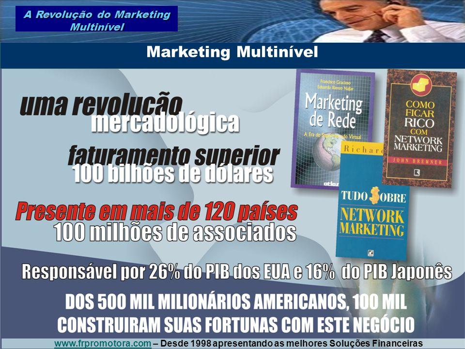 Marketing Multinível A Revolução do Marketing Multinível www.frpromotora.comwww.frpromotora.com – Desde 1998 apresentando as melhores Soluções Finance