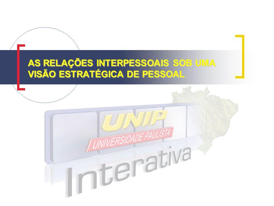 AS RELAÇÕES INTERPESSOAIS SOB UMA VISÃO ESTRATÉGICA DE PESSOAL