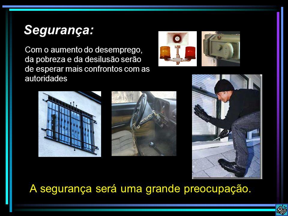 Segurança: A segurança será uma grande preocupação.