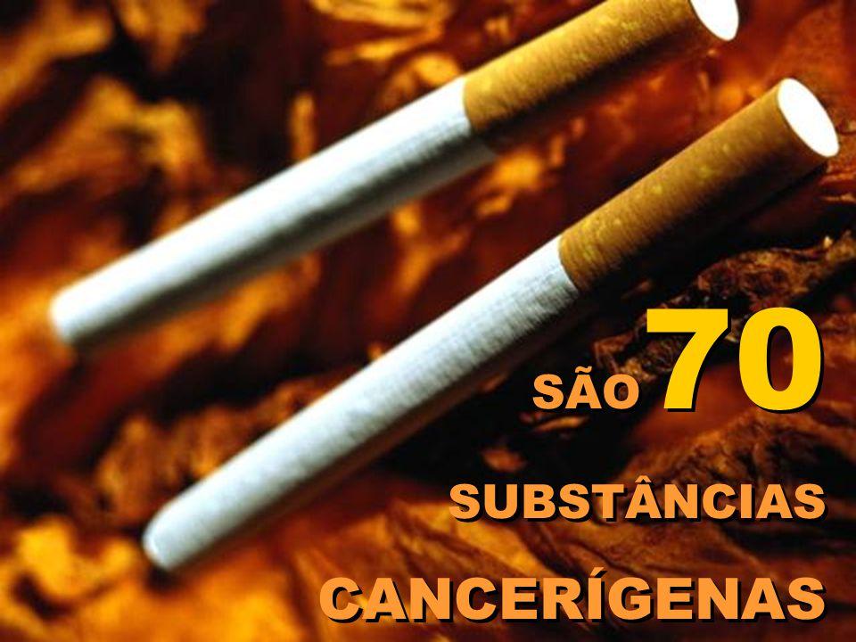 SÃO 70 SUBSTÂNCIAS CANCERÍGENAS SÃO 70 SUBSTÂNCIAS CANCERÍGENAS