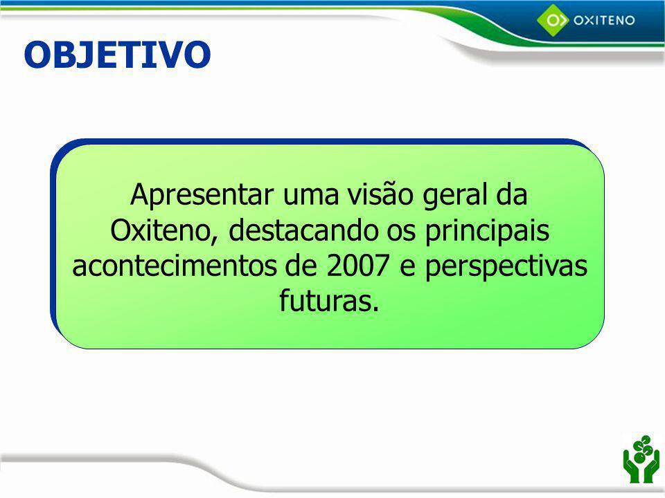 GEDEA – Gerência de Desenvolvimento e Aplicação Responsabilidades: Oferece suporte técnico às relações comerciais da Oxiteno com os clientes; Desenvolvimento de produtos e aplicações;