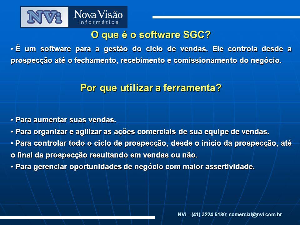 O que é o software SGC.É um software para a gestão do ciclo de vendas.