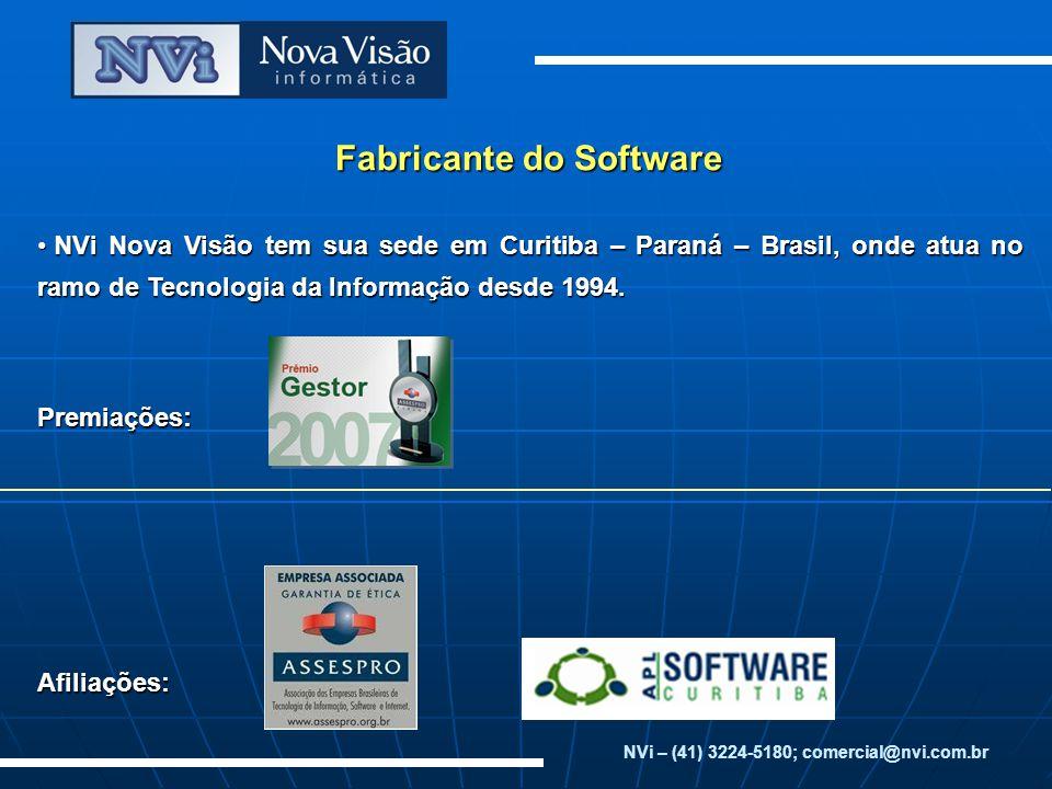 Fabricante do Software NVi Nova Visão tem sua sede em Curitiba – Paraná – Brasil, onde atua no ramo de Tecnologia da Informação desde 1994.