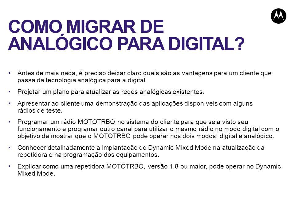 COMO MIGRAR DE ANALÓGICO PARA DIGITAL.