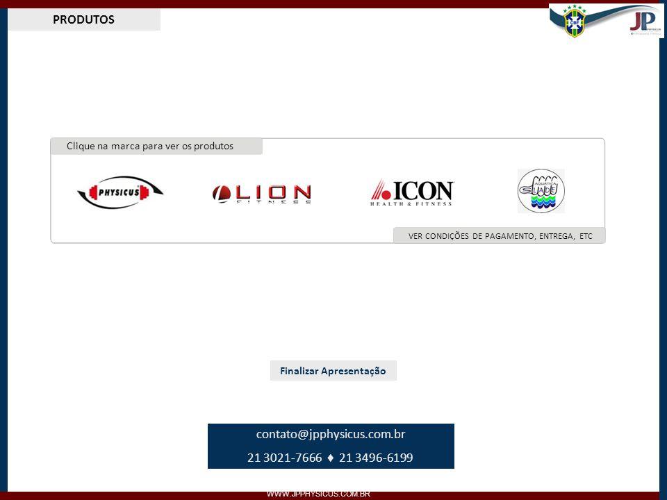 PRODUTOS WWW.JPPHYSICUS.COM.BR LINHA CÁRDIO Garantia de 1 a 10 anos Voltar Menu Ver características no site