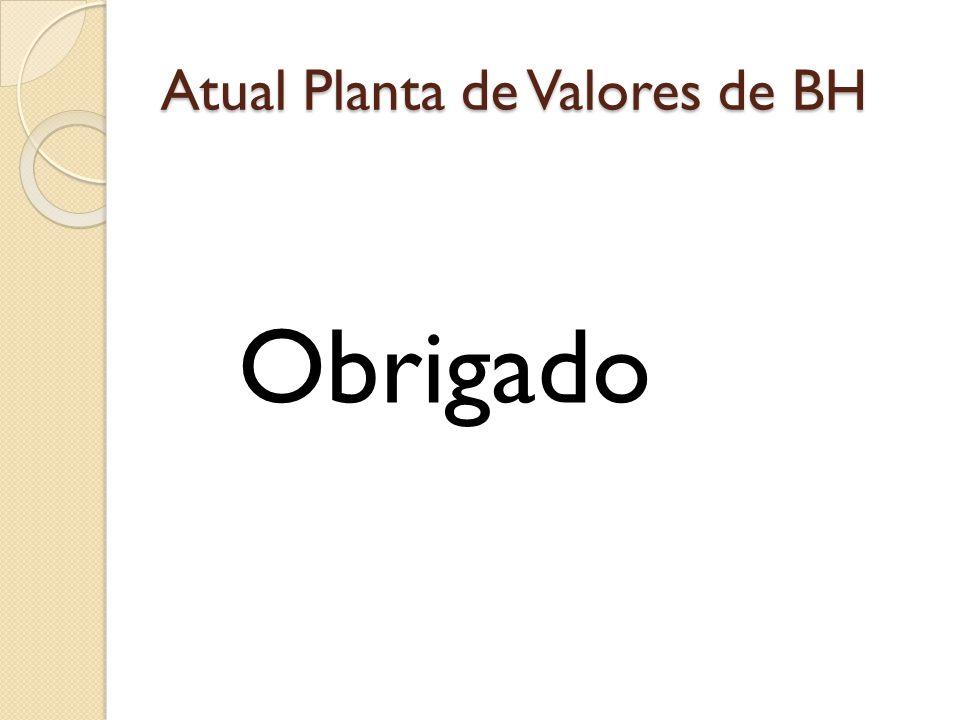 Atual Planta de Valores de BH Obrigado