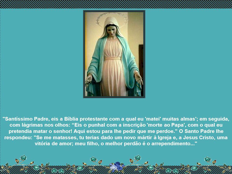 Um segundo Padre, indicado pela Santíssima Virgem, o conduziu ao Papa Pio XII, no dia 9 de novembro de 1949, para que lhe entregasse a mensagem de Mar