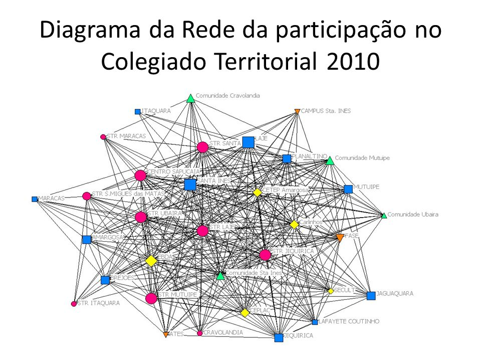 Diagrama da Rede da participação no Colegiado Territorial 2010