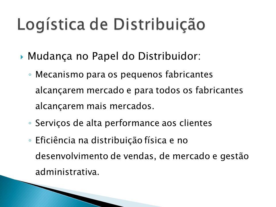 Mudança no Papel do Distribuidor: Mecanismo para os pequenos fabricantes alcançarem mercado e para todos os fabricantes alcançarem mais mercados.