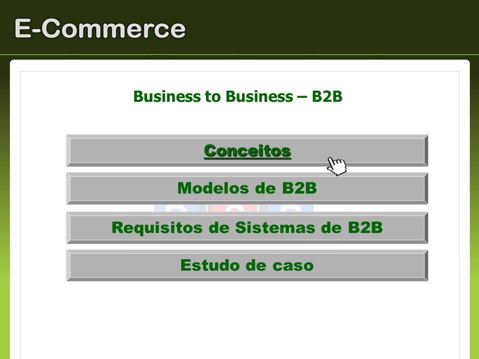 Business to Business – B2B / Definição São transações entre empresas realizadas eletronicamente pela internet, extranets ou redes privadas.