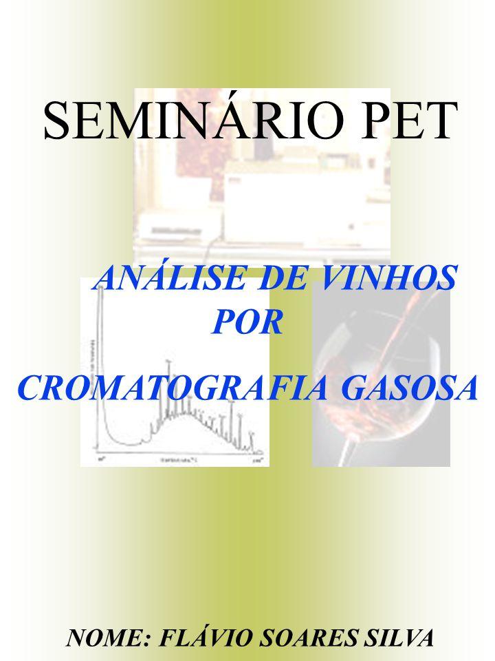 SEMINÁRIO PET ANÁLISE DE VINHOS POR CROMATOGRAFIA GASOSA NOME: FLÁVIO SOARES SILVA