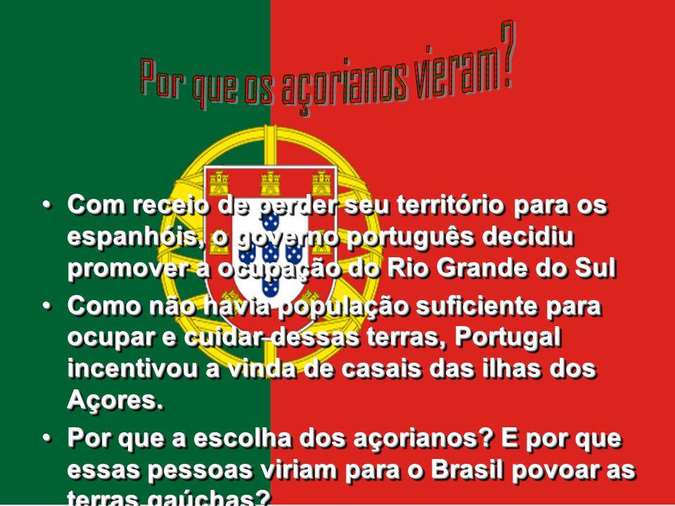 Os açorianos se fixaram no litoral, contribuindo para fundação das cidades de Torres, Mostardas, Tavares, São José do Norte, Osório, Santo Antônio da Patrulha e Gravataí.