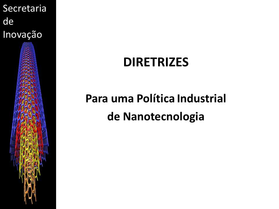 Secretaria de Inovação DIRETRIZES Para uma Política Industrial de Nanotecnologia