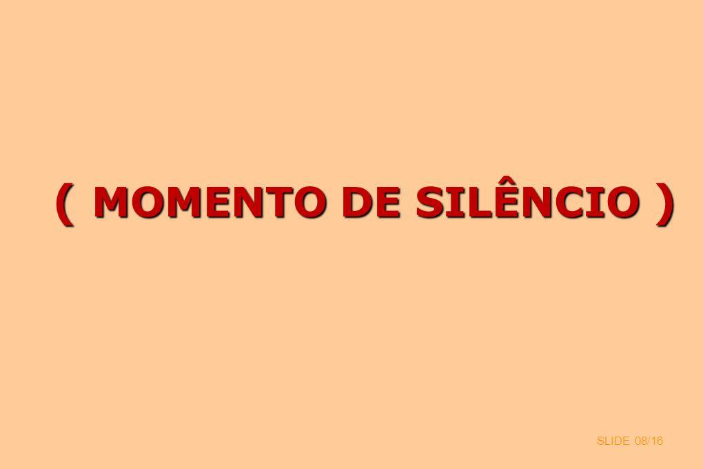 ( MOMENTO DE SILÊNCIO ) SLIDE 08/16