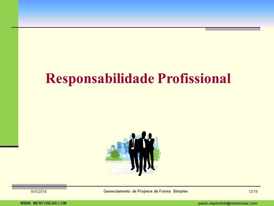 SAP Paulo Espindola 19 11 1960 paulo.espindola@mentorear.comWWW. MENTOREAR.COM Gerenciamento de Projetos de Forma Simples 16/6/2014 12/19 Lições Apren