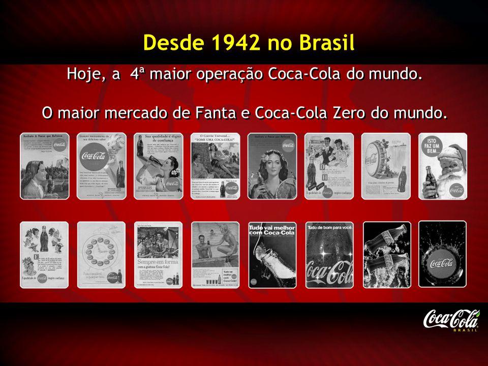 Hoje, a 4ª maior operação Coca-Cola do mundo. O maior mercado de Fanta e Coca-Cola Zero do mundo. Hoje, a 4ª maior operação Coca-Cola do mundo. O maio