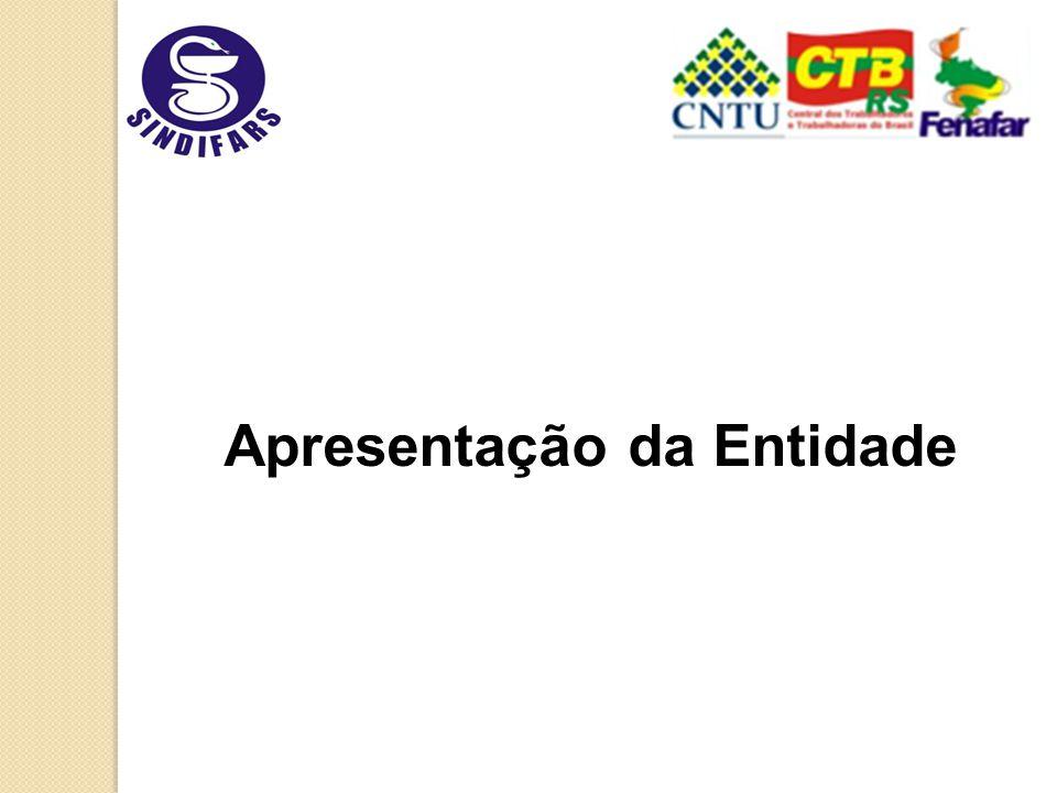 Sindicato dos Farmacêuticos no Estado do Rio Grande do Sul SINDIFARS Fundado em 02 de julho de 1975 Entidade regulada por estatuto Sócios profissionais farmacêuticos Filiado a Confederação Nacional dos Trabalhadores Liberais Universitários (CNTU), Central Nacional dos Trabalhadores e Trabalhadoras do Brasil (CTB) e a Federação Nacional dos Farmacêuticos (Fenafar)