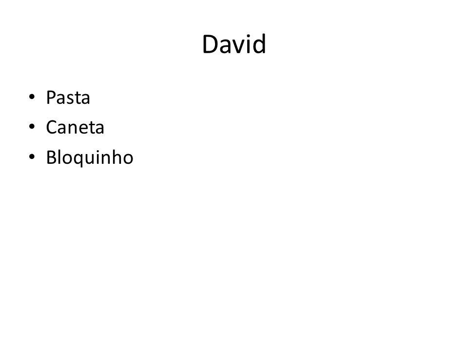 David Pasta Caneta Bloquinho