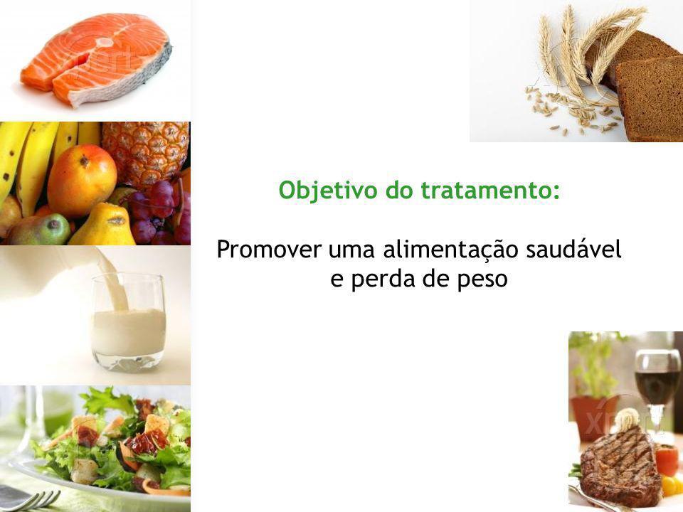 Objetivo do tratamento: Promover uma alimentação saudável e perda de peso