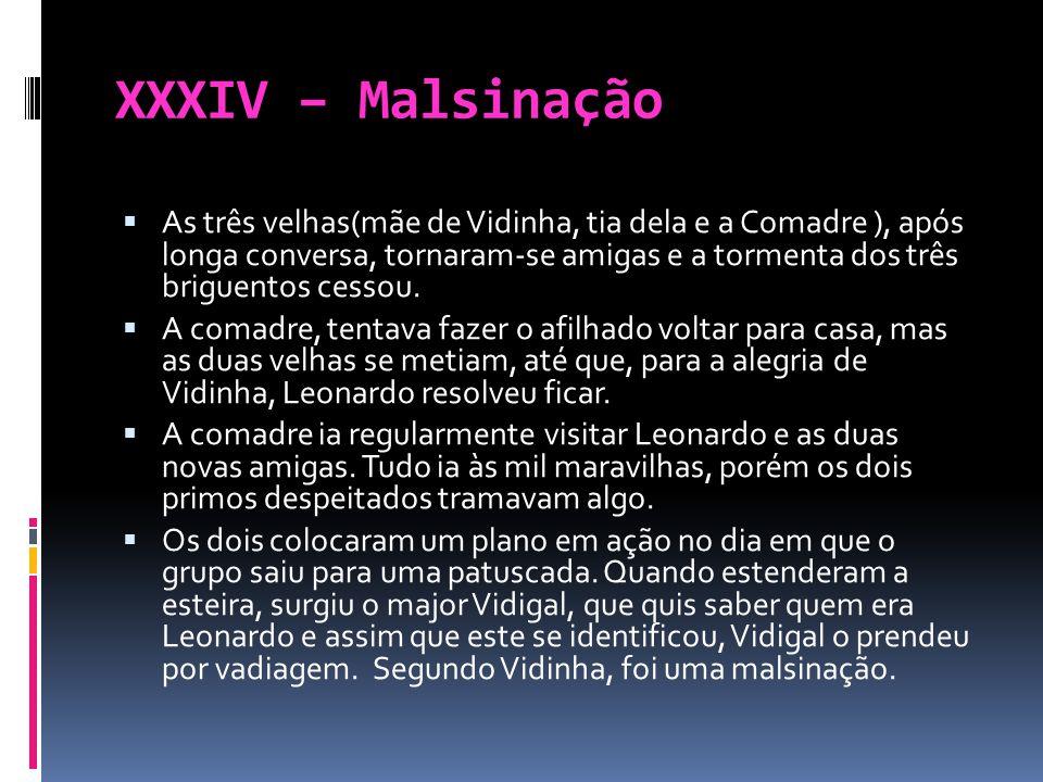 XXXV – Triunfo completo de José Manuel Com o sumiço de Leonardo da casa de D.