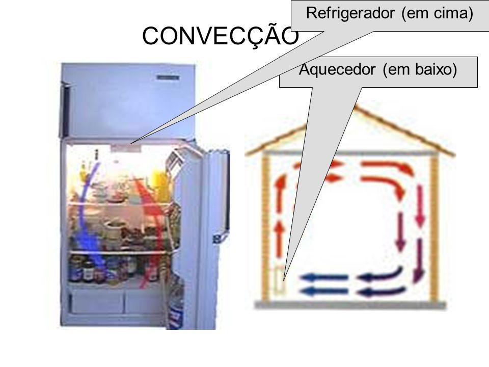 Aquecedor (em baixo) Refrigerador (em cima)
