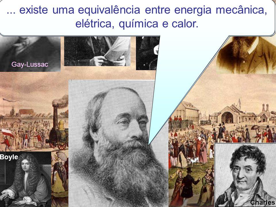 Gay-Lussac Kelvin Boyle Boltzman Charles Clapeyron CALOR é uma forma de energia em transito de um ponto a outro do espaço. Sendo assim, existe uma equ
