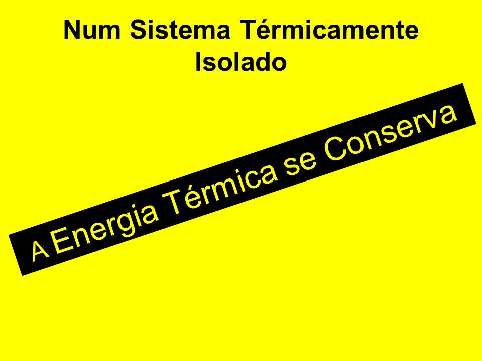 Num Sistema Térmicamente Isolado A Energia Térmica se Conserva
