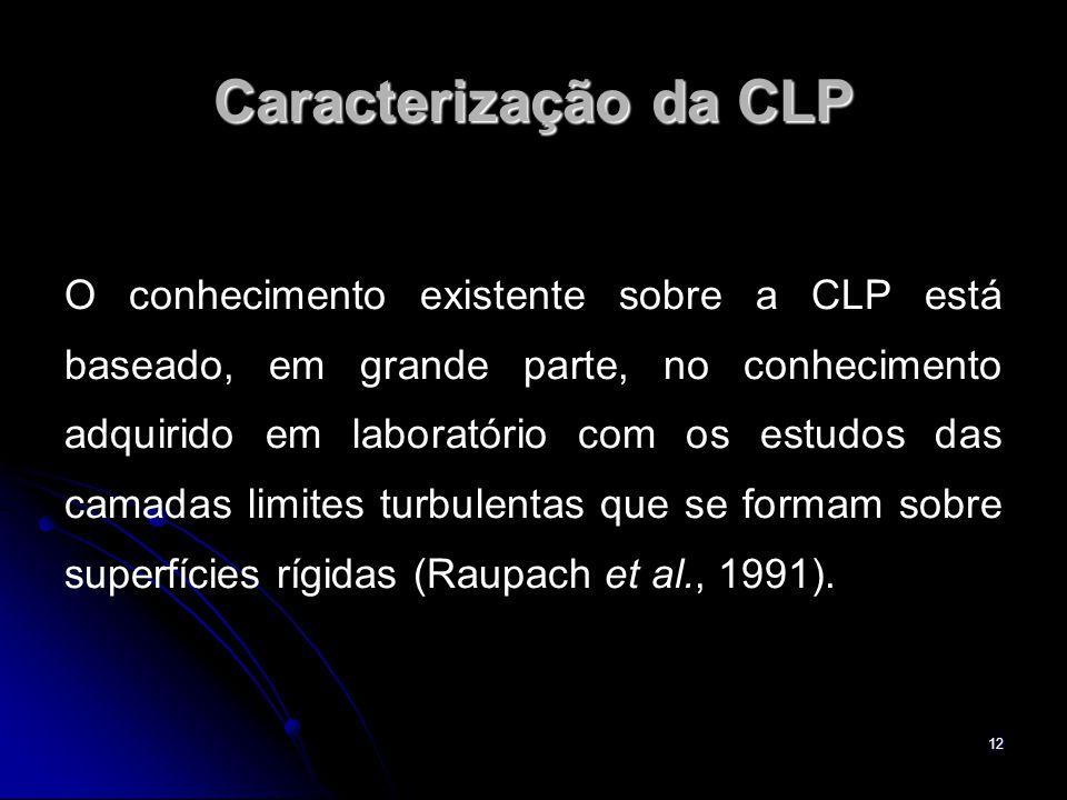 12 Caracterização da CLP O conhecimento existente sobre a CLP está baseado, em grande parte, no conhecimento adquirido em laboratório com os estudos d