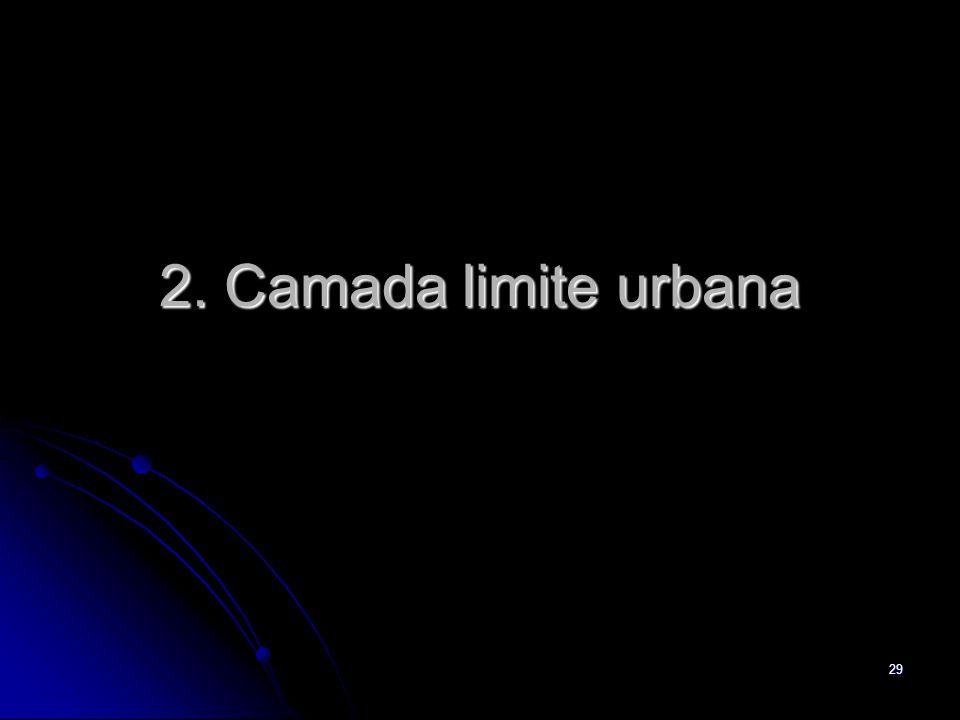 29 2. Camada limite urbana